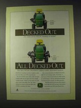 1995 John Deere STX46 Lawn Tractor Ad - All Decked Out - $14.99