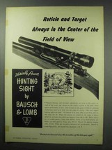 1950 Bausch & Lomb Hunting Sight Ad - Always in Center - $14.99