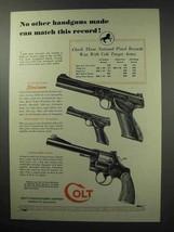 1950 Colt Gun Ad - Woodsman, Officers Model Special - $14.99