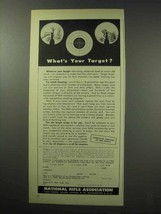 1950 National Rifle Association NRA Ad - Your Target? - $14.99