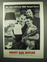 1951 Daisy Air Rifles Ad - His First NRA Target Score - $14.99