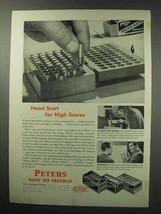 1950 Peters Police Match, Dewar Match, Target Ammo Ad - $14.99
