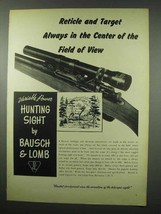 1951 Bausch & Lomb Variable Power Hunting Sight Ad - Field of View - $14.99