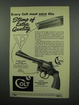 1952 Colt Officers Model Special Target Revolver Ad! - $14.99