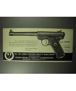 1951 Ruger .22 Calibre Mark I Target Pistol Ad - $14.99