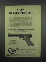 1952 Colt Match Target Woodsman Pistol Ad - Pride - $14.99