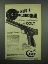 1952 Colt Match Target Woodsman Pistol Gun Ad - $14.99