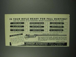 1952 Johnson Target and Sporter Barrels Ad - Your Rifle - $14.99