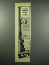 1952 Mossberg Model 144 Target Rifle Ad - $14.99
