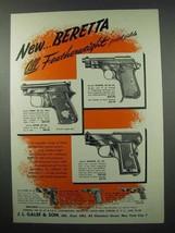 1953 Beretta Pistol Ad - Plinker, Minx, Banta, Puma - $14.99