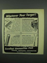 1953 Federal Primers and Cartridges Ad - Your Target - $14.99