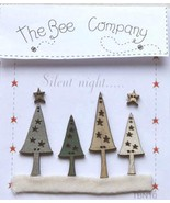 Forest Trees (6 pcs) wooden buttons The Bee Company  - $5.00