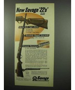 1955 Savage .22 Cal Rifle; Stevens Model 15 Rifle Ad - $14.99