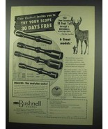 1954 Bushnell Scope Ad - Dave Bushnell Invites You - $14.99