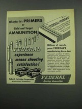 1954 Federal Primers and Ammunition Ad - Field, Target - $14.99
