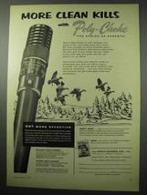 1956 Poly-Choke Co. Ad - More Clean Kills - $14.99