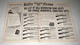 1956 Remington Rifle Ad - Wonderful Christmas Gifts - $14.99