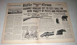 1954 Remington 721 Rifle Ad - Test Skill on Pests - $14.99