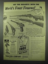 1954 Walther Gun Ad - PPK, Sporter Target, Air Rifle + - $14.99