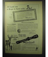 1955 Bushnell Scopes Ad - A Scope to Hunt With - $14.99