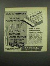 1955 Federal Primers and Ammunition Ad - Field Target - $14.99
