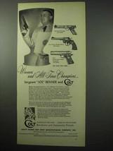 1956 Colt Gun Ad - Match Target, Officers Model Match + - $14.99