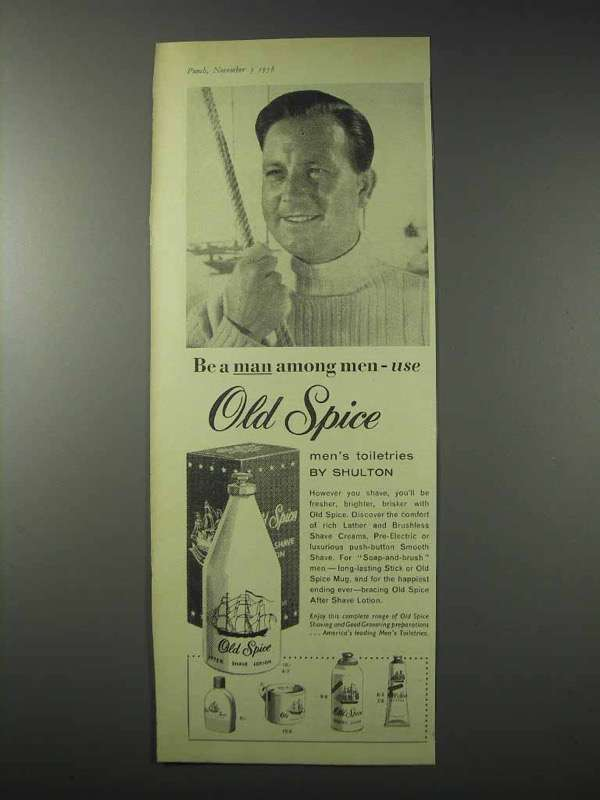 1958 Old Spice After Shave Lotion Ad Be A And Similar Items