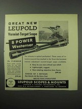 1956 Leupold 8 Power Westerner Scope Ad - Varmint - $14.99