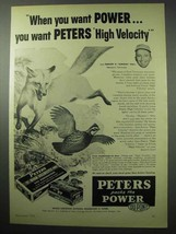 1956 Peters High Velocity 244 Remington Cartridge Ad - $14.99