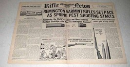 1956 Remington Model 40x, 722 Rifle Ad - Varmint - $14.99
