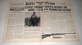 1956 Remington Ad - Model 722 in 244 Remington Caliber - $14.99