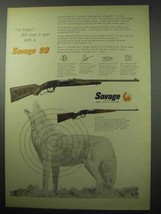 1956 Savage 99 Rifle Ad - On Target 365 Days A Year - $14.99