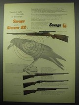 1956 Savage 6 Deluxe; 29, Stevens 87; 15 Rifle Ad - $14.99