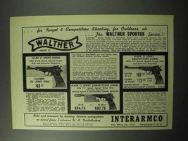 1956 Walther Mark II Pistol Ad, Sport Sport Competition - $14.99