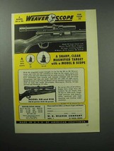 1957 Weaver Model B4 Scope Ad - Sharp, Clear - $14.99