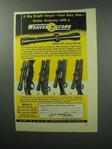 1957 Weaver Scope Ad - K4, K2.5, K6, KV, K8 - $14.99