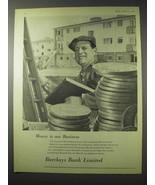 1958 Barclays Bank Ad - $14.99