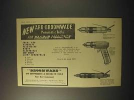 1958 Broomwade Pneumatic Tools Ad - Aro-Broomwade - $14.99