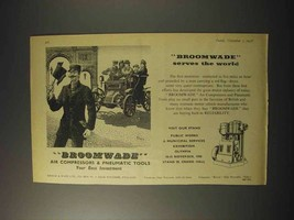 1958 Broomwade Pneumatic Tools Ad - Serves World - $14.99