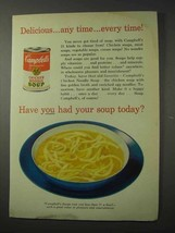 1958 Campbell's Chicken Noodle Soup Ad - Delicious - $14.99