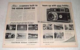 1959 Kodak Signet 80 Camera Ad - Your Hobby - $14.99
