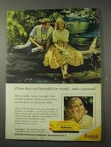 1958 Kodak Film Ad - She's Too Beautiful for Words - $14.99