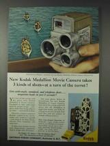 1958 Kodak Medallion 8 Movie Camera Ad - Turn of Turret - $14.99