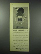 1959 Yardley for Men Shower Talc Ad - Lead the Field - $14.99