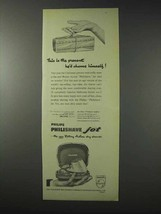 1958 Philips Philishave Dry Shaver Ad - The Present - $14.99