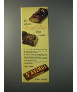 1963 5th Avenue with Almonds Candy Bar Ad - Inside - $14.99
