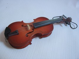 Musical Instrument  Ornament  VIOLIN wood and wire - $11.83