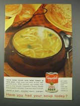 1959 Campbell's Turkey Noodle Soup Ad - Never Tasted - $14.99