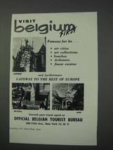 1959 Belgium Tourism Ad - Visit Belgium First - $14.99