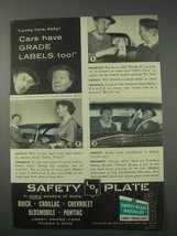 1959 Libbey Owens Ford Safety Plate Glass Ad - $14.99